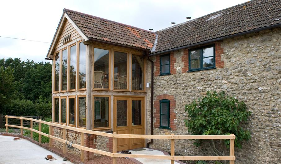 Oak framed garden rooms extensions townsend timber for Garden room extensions