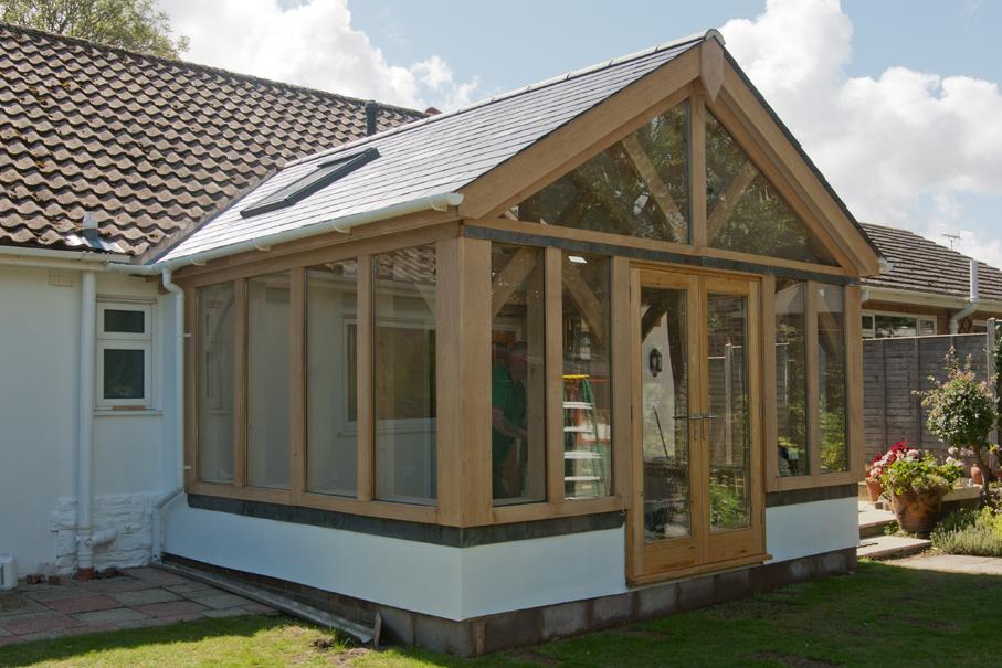 Oak framed garden rooms extensions townsend timber for Oak garden rooms