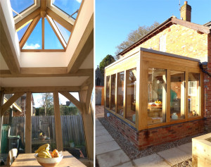 Modern onto old Timber Framed Extension