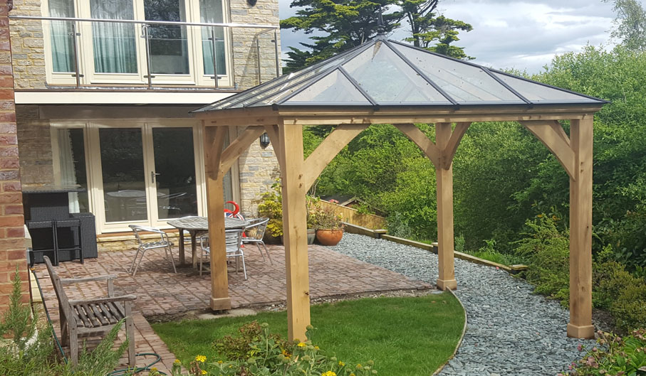 Oak framed porches gazebos pergolas townsend timber - Glas pergola ...